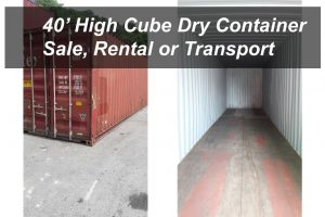 40' High Cube Dry Container sale, rental or transport