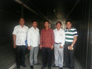 นักธุรกิจจากราชอาณาจักรกัมพูชา มาดูงานที่ลานไทยรีเฟอร์ มหาชัย