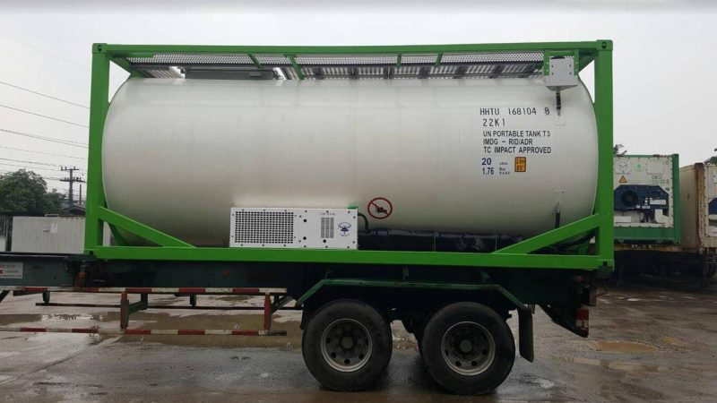 Refrigerated (Reefer) ISO Tank - Food Grade - Insulated Stainless steel tank with glycol cooling