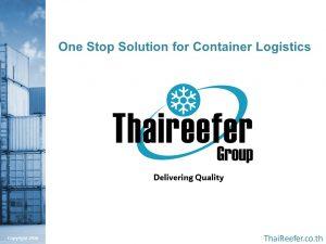 ThaiReefer Group Slide