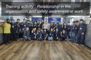 Relationship in the organization and safety awareness at work training